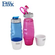 Moda inteligente ao ar livre caminhadas garrafa de água de plástico com alça