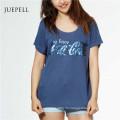 Pailletten Druck Baumwolle Frauen T-Shirt