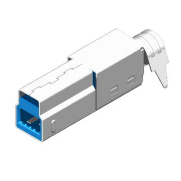 Mini USB 10P Soldadura de enchufe tipo B