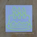 Birthday Cake Sticker Luminous Wall Sticker Glow in the Dark Home Decor Birthday Sticker