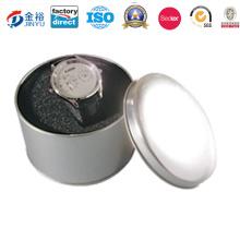 Europe Round Customized Printing Tin Watch Box/Watch Box with Window
