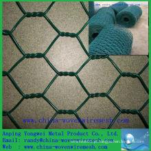 China supplier Um ping PVC revestido malha de arame hexagonal (China alibaba)