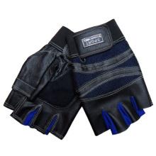 Luvas de esportes de couro genuíno sem dedos moda masculina (yky5018)