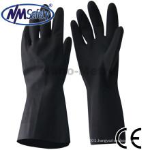 NMSAFETY chemical resistant black neoprene gloves