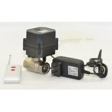 2 vias Mini 1/2 polegadas de controle elétrico de latão válvula de controle remoto sem fio de água motorizada válvula de bola (W15-B2-C)