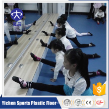 Pvc vinyl dance flooring with rebound and shock absorption