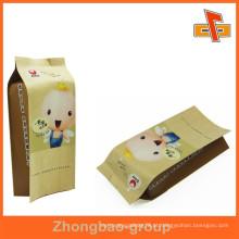 Selo de calor personalizado impresso saco de papel kraft marrom para lanche feito na China