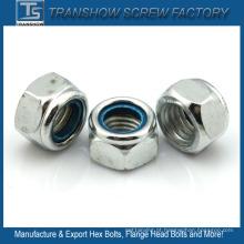 Porcas de nylon M3 do fechamento da flange da inserção do metal do RUÍDO 982 / DIN 985 - M24