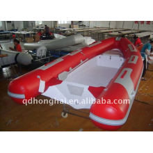 CE RIB420 fiberglass inflatable boats luxury yacht with cabin outboard motor
