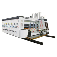 Factory price automatic 3 colors print slot machine for corrugated carton