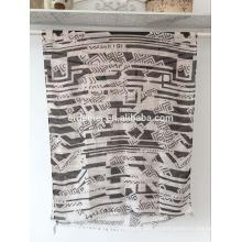 2016 печатать вуаль шарф, простой дизайн оптом пашмины