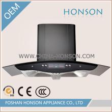 Нержавеющая сталь Черное закаленное стекло Вытяжка с цифровой дисплей