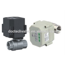 Control Electric Valve AC/DC9-24V, SS304 Motorized Valve with timer set function used for drain water