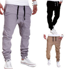 Fábrica OEM Men Jogger Calças Moda Cotton Tract Pants