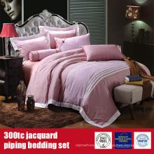100% algodón 300TC jacquard ropa de cama Hotel sábanas Sets