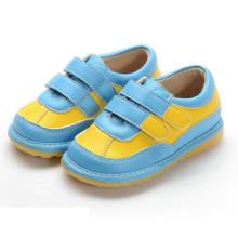 Blue Yellow Hook & Loop Quietschen Schuhe Boy