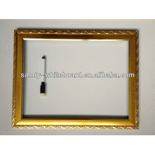 Decorative Whiteboard With Clock equipment /magnetic whiteboard with wooden frame