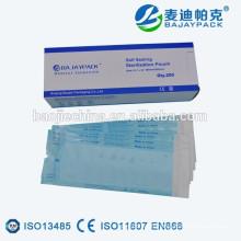 Sachets stériles jetables Pochette de stérilisation auto-étanche