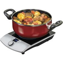 Aplicación de cocina 2016 Venta caliente Estufa de inducción eléctrica de cristal de vidrio negro