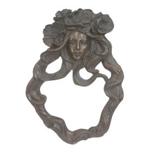 Relievo Brass Statue Lady Bust Relief Wall Deco Bronze Sculpture Tpy-857