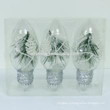 светящиеся Рождество висячие шары со светодиодными огнями