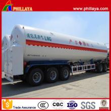 Reboque líquido criogênico do tanque do LNG do transporte do Tri-Eixo de BPW