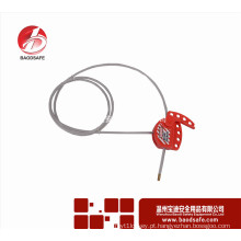 Wenzhou BAODI universal bloqueio de cabo ajustável bloqueio Tagout BDS-L8611 vermelho