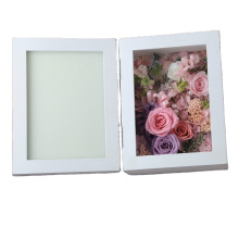 custom high quality wholesale Valentine's Day gift flower preserved fresh rose flower photo shadow box frame