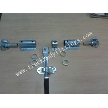 truck body rear door lock,steel/stainless/steel door bar locks