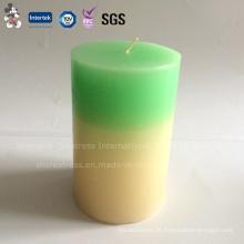 Elegante Zweifarbensäule-Haushalts-Dekorations-Kerze