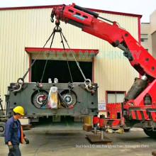 Grúa montada camión telescópico del auge del nudillo de la grúa de la capacidad de 32 toneladas