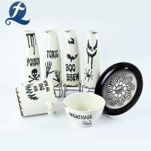 Customized White Ceramic Jars Spice Storage Jar