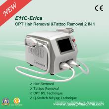 2 в 1 Opt Shr IPL-система и Q-Switch ND: YAG-лазер E11c