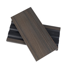 Half Solid Soft Touching Wood Grain Wood Plastic 3rd Generation Composite Decking for Outdoor