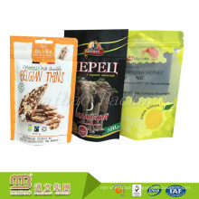 Custom Heat Seal Biodegradable Packaging Stand Up Zip Lock Plastic Bag For Malaysia Food