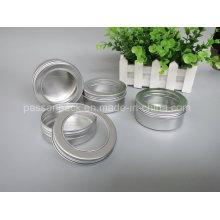 Recipiente de alumínio com tampa da janela para a embalagem da vela (PPC-ATC-013)