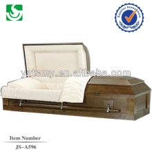 JS-A596 ataúd de madera de nogal