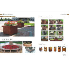 Boîte à fleurs extérieures WPC de haute qualité, boîtier de fleurs WPC à faible entretien