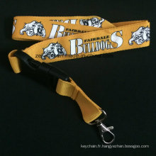 Longe épaisse et large de haute qualité pour la ceinture de chien avec le logo fait sur commande imprimé