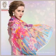 Bufandas de seda de alta calidad Chal de seda al por mayor