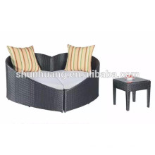 leisure outdoor lounger with ottoman