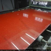 Кварц StarLight, красные искры проектированный камень кварца