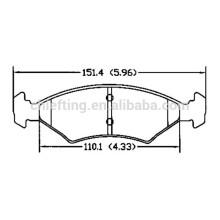 D766 OE No.0K2A2-33-23Z for Kia pride brake pad