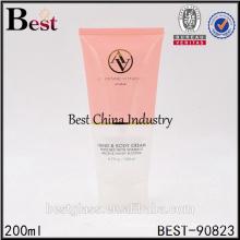200ml colored cosmetic plastic tube design for sun cream