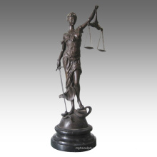 Myth Figure Antique Brass Statue Justice Goddess Bronze Sculpture TPE-948