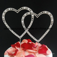 Love Rhinestone Heart Wedding Cake Topper for Cake Decoration