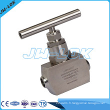 Acier inoxydable Aiguille Valve Butt Welding End 6000psig High Pressure Needle Valve