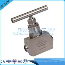 Válvula de agulha de aço inoxidável extremidade de solda de extremidade 6000psig válvula de agulha de alta pressão