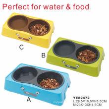 Lindo pet bowl para agua y comida, perro de agua de Bowl (ye82472)