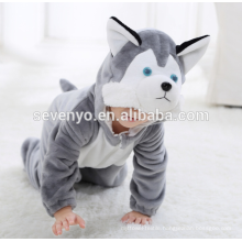 Soft baby Flannel Romper Animal Onesie Pajamas Outfits Suit,sleeping wear,cute grey cloth,baby hooded towel